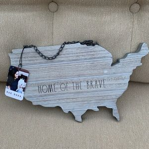 Rae Dunn Home of the Brave US Decor NWT